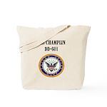 USS CHAMPLIN Tote Bag