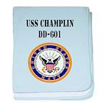 USS CHAMPLIN baby blanket