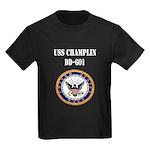 USS CHAMPLIN Kids Dark T-Shirt