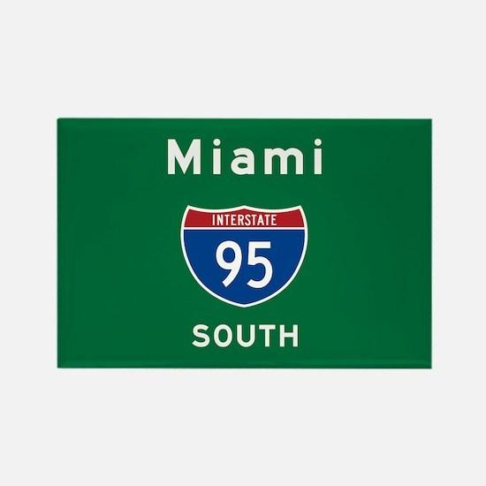 Miami 95 Rectangle Magnet