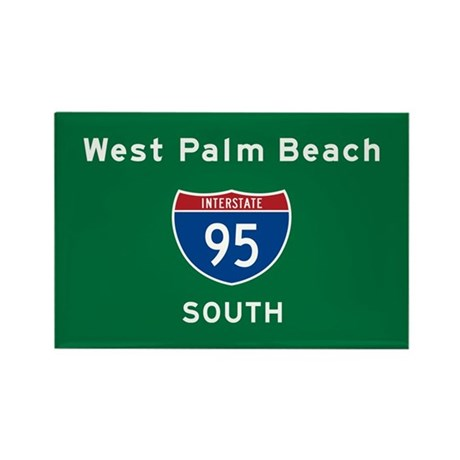 West Palm Beach 95 Rectangle Magnet