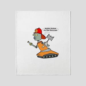 Robot Firefighter Throw Blanket