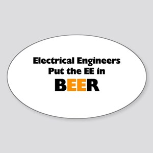 EE in BEER Sticker (Oval)