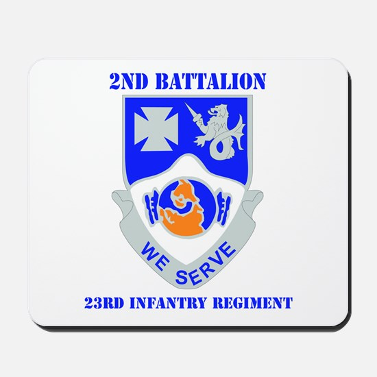 DUI - 2nd Bn - 23rd Infantry Regt with Text Mousep