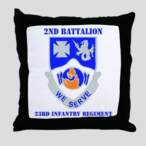 DUI - 2nd Bn - 23rd Infantry Regt with Text Throw