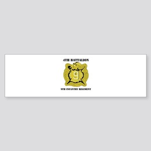 DUI - 4th Bn - 9th Infantry Regt with Text Sticker