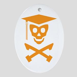 Grad Class Skully Ornament (Oval)