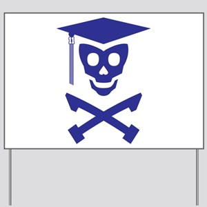 Grad Class Skully Yard Sign