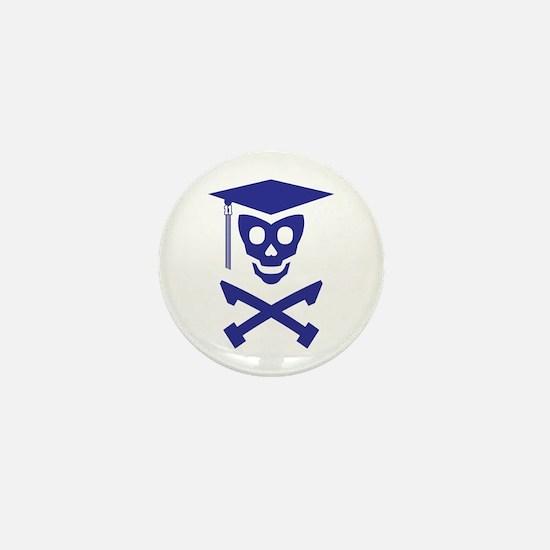 Grad Class Skully Mini Button