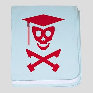 Grad Class Skully baby blanket