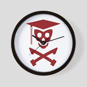 Grad Class Skully Wall Clock