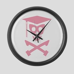 Grad Class Skully Large Wall Clock