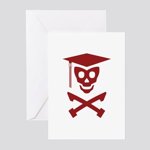 Grad Class Skully Greeting Cards (Pk of 10)