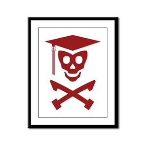 Grad Class Skully Framed Panel Print