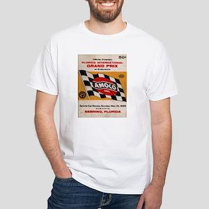 1955 Sebring sports car race White T-Shirt