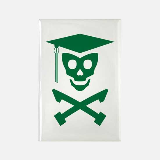 Grad Class Skully Rectangle Magnet (100 pack)