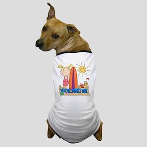 Blond Girl at Beach Dog T-Shirt