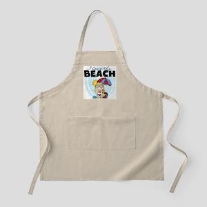 Blond Girl Love the Beach Apron