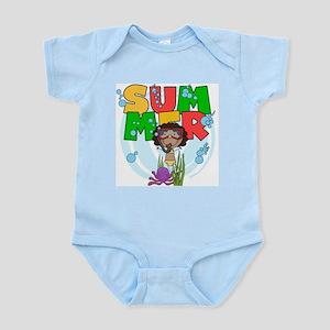 African American Girl SUMMER Infant Bodysuit