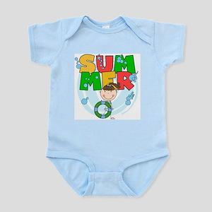 Brunette Girl SUMMER Infant Bodysuit