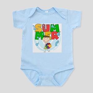 Brunette Boy SUMMER Infant Bodysuit