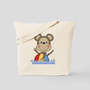 Monkey With Beach Ball Tote Bag