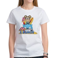 Monkey at Beach Women's T-Shirt