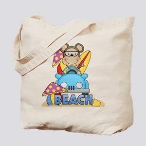 Monkey at Beach Tote Bag