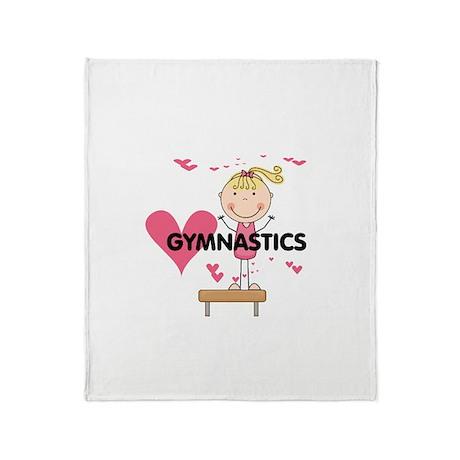Blond Girl Gymnast Throw Blanket
