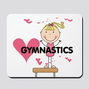 Blond Girl Gymnast Mousepad
