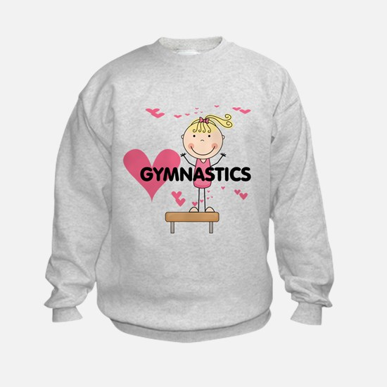 Blond Girl Gymnast Sweatshirt