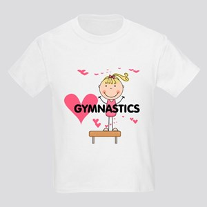 Blond Girl Gymnast Kids Light T-Shirt