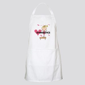 Blond Girl Gymnast Apron