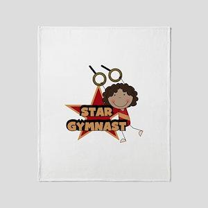 Star Gymnast Throw Blanket