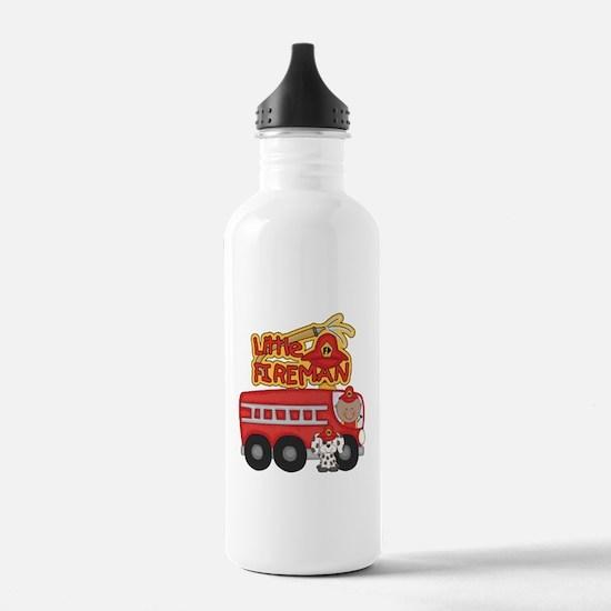 Little Fireman African American Water Bottle