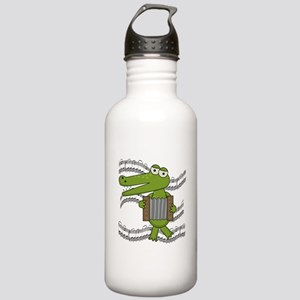 Crocodile With Accordion Stainless Water Bottle 1.