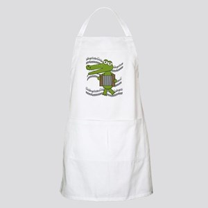 Crocodile With Accordion Apron