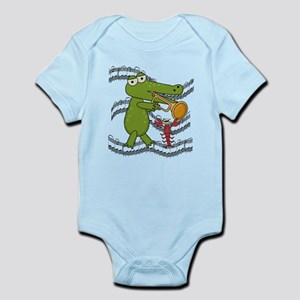 Crocodile With Trumpet Infant Bodysuit