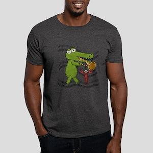 Crocodile With Trumpet Dark T-Shirt
