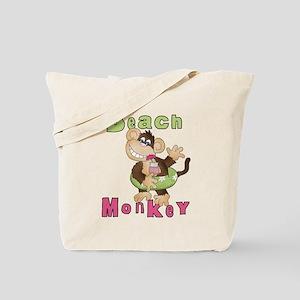 Green Beach Monkey Tote Bag