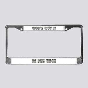 """GOD'S GOT IT"" License Plate Frame"