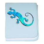 Malachite Blue Gecko baby blanket