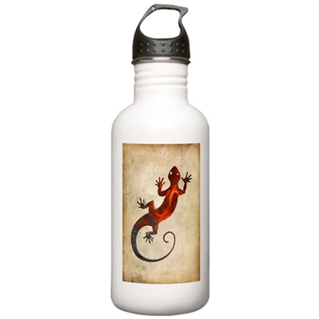 Fire Red Gecko Stainless Water Bottle 1.0L