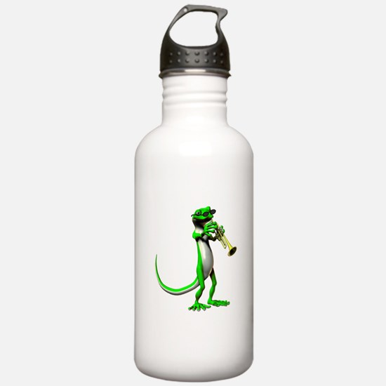 Blues Trumpet Gecko Water Bottle