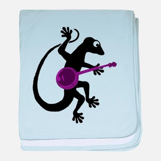 Gecko Banjo baby blanket