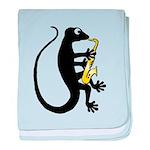 Gecko Saxophone baby blanket