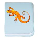 Golden Yellow Gecko baby blanket