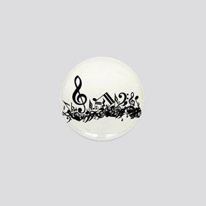 Mixed Musical Notes (black) Mini Button