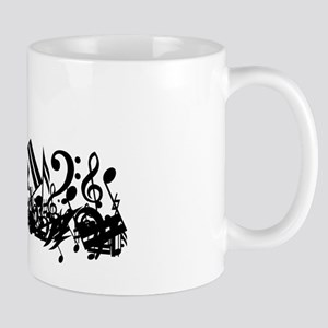 Mixed Musical Notes (black) Mug