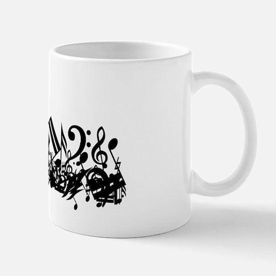 Mixed Musical Notes (black) Mug